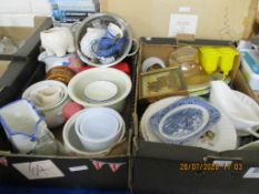TWO BOXES CONTAINING VARIOUS CLEARANCE CERAMICS ETC
