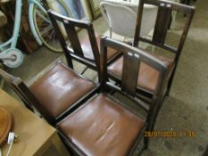 FOUR SETS OF FOUR MID-20TH CENTURY DINING CHAIRS, APPROX 84CM HIGH
