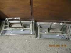 PAIR OF ART NOUVEAU STYLE ELECTRIC CEILING LIGHT FITTINGS, EACH APPROX LENGTH 75CM