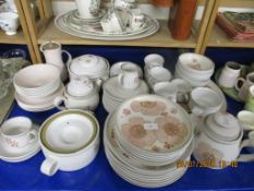 GOOD QUANTITY OF DENBY DINNER WARES INCLUDING PLATES, TEA POT, TUREENS, BOWLS ETC