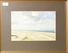 Brenda Dawkin, Beach scene, watercolour, signed lower right, 20 x 29cm, together with two further