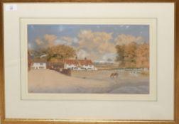 "William Frederick Austin, ""Pub - Lakenham - Railway into Norwich in background"", pen, ink and"