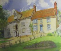 """Charles Clifford Turner, """"The Miller's House"""", watercolour, signed lower right, 36 x 54cm"""