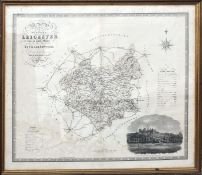 C & J Greenwood, hand coloured engraved map of the County of Leicester, circa 1830, 58 x 70cm