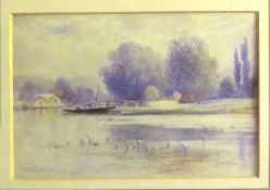 "C H Rowbotham, ""Bourne End"", watercolour, signed and dated 1909 lower left, 10 x 14cm. Provenance:"