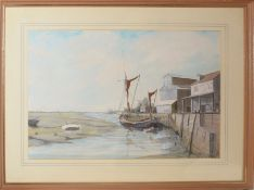 Robert Horne, Quayside, watercolour, signed and dated 83 lower right, 36 x 54cm, together with a