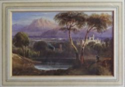 """Attributed to William Crouch, """"In Westmoreland"""", watercolour, 8 x 12cm"""
