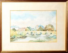 Frederick Cross, Cambridgeshire views, group of four watercolours, all signed, assorted sizes (4)