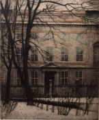 """Nicholas Hammer (1887-1970), """"Kimigisk Akademie"""", coloured etching, signed, numbered 197/200 and"""
