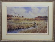 Jonathan Yule (20th century), Hunting scene, coloured print, signed and numbered 59/200 in pencil to