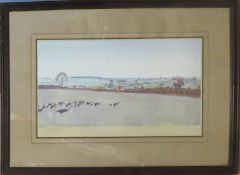 Cecil Charles Windsor Aldin (1870-1935), Hunting scene, coloured artist's proof, signed in pencil to