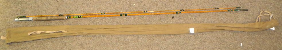 Vintage Allcock Leander two piece fishing rod