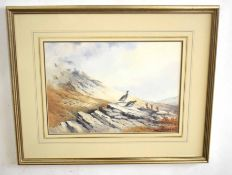 •AR Berrisford Hill (20th Century), Morning Scene - Ptarmigan, watercolour, signed lower right, 25 x
