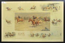 "Charles Johnson Payne ""Snaffles"", ""Carpet beaters v Bobbery Wallahs"", coloured print, signed in"