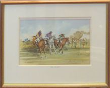 """AR Harry Clow (20th Century), """"Off the Bend"""" and """"Over the Last"""" (Horse Racing), pair of"""