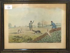 """After H Alken, engraved by Pollard, """"Partridge shooting"""", """"Pheasant shooting"""", """"Grouse shooting"""" and"""