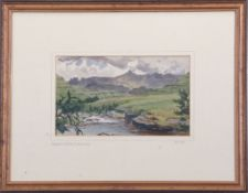 "•AR John Cyril Harrison (1898-1985) , ""Mlanje Range,Nr Blantyre"", watercolour, signed lower"