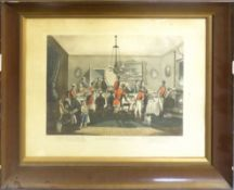 """After F C Turner, """"Bachelor's Hall"""", set of six hand coloured engravings, 27 x 35cm, together with"""