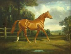 """•AR Raoul Millais (1901-1999), """"Gold Dust - Champion Hunter"""", oil on canvas, signed lower right,"""