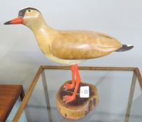Wooden and Ceramic sculpture of a bird