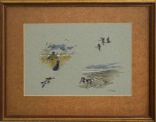 "•AR Brian Rawling (20th Century), ""The Wildfowler"", watercolour, signed and dated '73 lower right,"