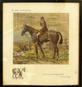 """Charles Johnson Payne """"Snaffles"""", """"The Gent in Ratcatcher"""", coloured print with publisher's blind"""