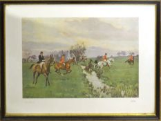 """After Charles Simpson, """"The Brook"""" and """"Breaking away"""", pair of coloured prints, copyright F R"""