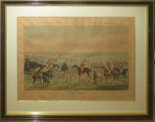 """After H Alken, engraved by F C Lewis, """"The Quorn Hunt"""", set of four hand coloured aqautints,"""