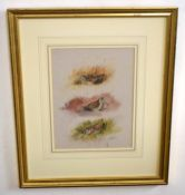 "Ian Bowles (born 1947), ""Pheasant"", ""Grouse"", ""Partridge"" and ""Snipe"", set of four watercolours, all"