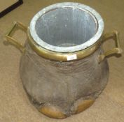 Taxidermy Elephants foot, in the form of an ice bucket