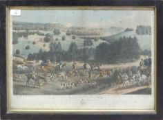 """After W P Hodges, engraved by H Alken & R G Reeve, """"The death of the roebuck"""", hand coloured"""