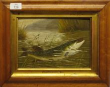 """G Burns, (19th/20th century), """"The Dowdeswell Pike"""", oil on board, signed and inscribed with"""