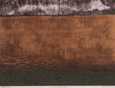 """•AR Barry Drake (20th century), """"The Maltings, Snape"""", coloured etching and aquatint, signed,"""