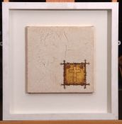 "•AR Susan Gunn (contemporary), ""This is my body which is broken for you"", gold leaf, encaustic,"