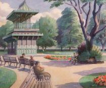 "•AR Tom Griffiths, FRSA (1902-1990), ""Chapelfield, Norwich"", watercolour, signed lower right, 22 x"