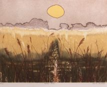 "•AR Charles Bartlett (1921-2014), ""Autumn Reeds"", coloured etching, signed, numbered 49/150 and"