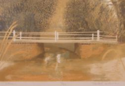 """•AR Michael Carlo (born 1945), """"Stream"""", coloured lithograph, signed, dated 1980, numbered 131/150"""
