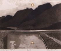 "•AR John Brunsdon, ARCA, (1933-2014), ""Welsh scene - Harlech"", coloured etching and aquatint,"