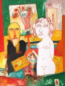 •AR John Bellany, CBE, RA (1942-2013), Self portrait with nude, 1994, oil on canvas, signed lower