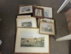 SELECTION OF TEN VARIOUS FRAMED PICTURES AND PRINTS