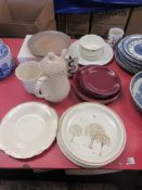 GROUP OF HOUSEHOLD EARTHENWARE AND OTHER CERAMICS