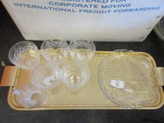 TRAY CONTAINING QUANTITY OF GLASS