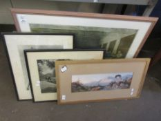 SELECTION OF FIVE FRAMED PICTURES