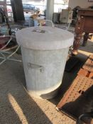 2 ½CU FT METAL FEED BIN