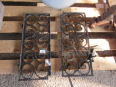 PAIR OF ORNATE PAINTED BRASS SHUTTERS