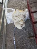 COMPOSITION WATER FEATURE FORMED AS A HEAD OF A MYTHICAL BEAST HEIGHT APPROX 30CM