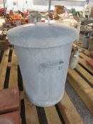 2 ½ CU FT METAL FEED BIN AND LID