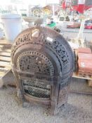 HIGHLY DECORATIVE CAST FIRE SURROUND HEIGHT APPROX 73CM