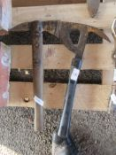 TWO VARIOUS VINTAGE FIRE AXES