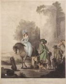 "After H Bunbury, engraved by W Dickinson, ""Henry and Emma"", hand coloured stipple engraving,"